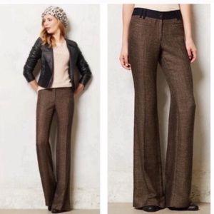 Elevenses 'The Brighton' Brown Tweed Wide Leg Pant
